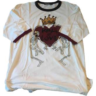 Dolce & Gabbana White Cotton T-shirts