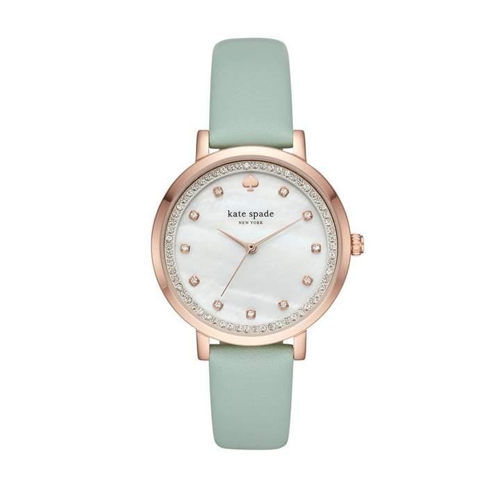 Kate Spade Monterey Watch - Rose Gold, Crystal & Mint