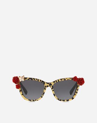 Dolce & Gabbana Leo & Roses Sunglasses