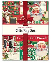Cavallini Papers & Co Vintage Christmas Gift Bag Set