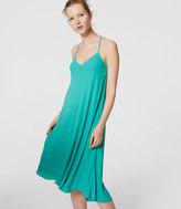 LOFT Petite Strappy Racerback Dress