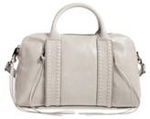 Rebecca Minkoff Vanity Leather Zip Satchel - Grey