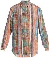 Marco De Vincenzo Chaos-print silk-crepe shirt