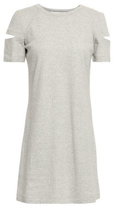 Helmut Lang Cutout Ribbed Cotton-jersey Mini Dress