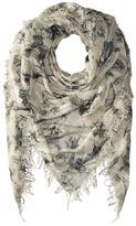 Chan Luu Bow Print Cashmere & Silk Scarf