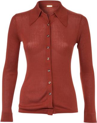 Dodo Bar Or Paya Knitted Stretch-Jersey Shirt