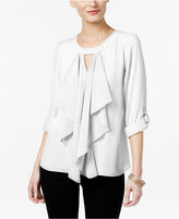 Thalia Sodi Ruffle-Front Blouse, Only at Macy's
