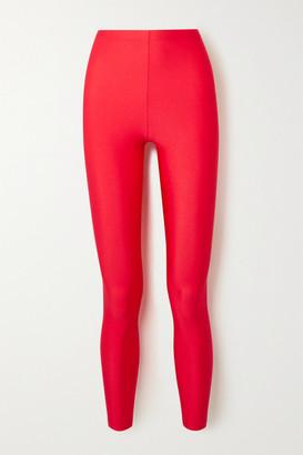 Balenciaga Stretch Satin-jersey Leggings - Red