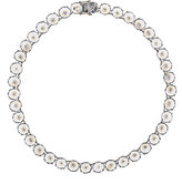 Fallon WOMEN'S INVERTED-CUBIC-ZIRCONIA CHOKER-SILVER