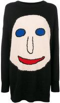 Christopher Kane face jumper - women - Cotton/Nylon/Viscose/Virgin Wool - S