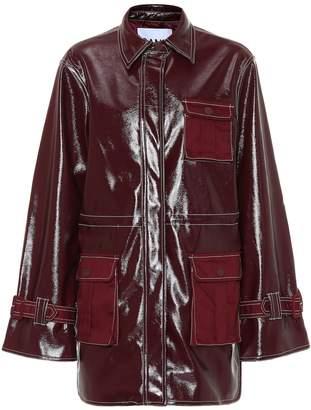 Ganni Patent faux leather jacket