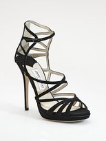 Jimmy Choo Ontario Strappy Suede Sandals
