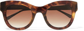 Thierry Lasry Leggy D-frame printed acetate and metal sunglasses