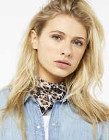 Accessorize Betty Leopard Neckerchief Scarf