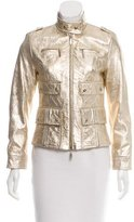 Escada Gold Leather Jacket