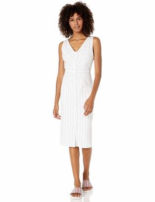 BB Dakota Women's in The Swing Stripe Button Front Dress