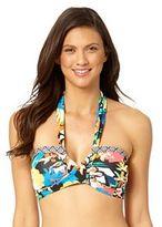 Women's Cole of California Wild Heart Floral Halter Bikini Top