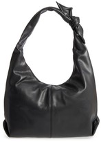 Sole Society Faux Leather Hobo - Black