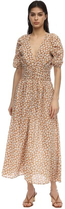 Bec & Bridge Printed Cotton Midi Dress