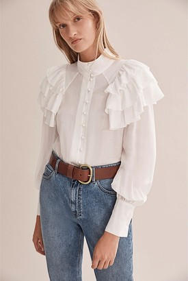 Country Road Frill Detail Blouse