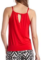 Charlotte Russe Cinched Keyhole Cut-Out Top