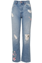 Anine Bing Embroidered Jeans