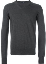 Fay V-neck ribbed sweater