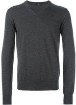 Fay V-neck ribbed sweater