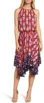 Maggy London Petite Women's Ikat Print Fit & Flare Dress
