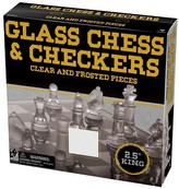 "Cardinal 9"" Glass Chess & Checkers Set Glass Games"
