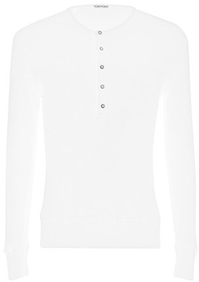 Tom Ford Ribbed henley long sleeve T-shirt