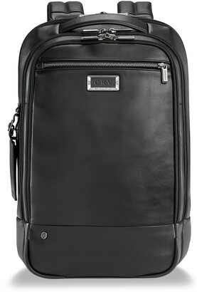 Briggs & Riley Medium Leather RFID Pocket Laptop Backpack