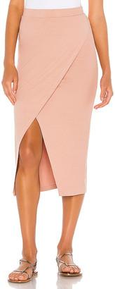 LAmade Overlap Midi Skirt