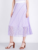 Sandro Pleated lace skirt