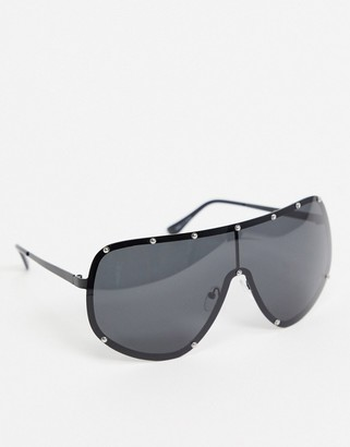 Jeepers Peepers visor sunglasses in black