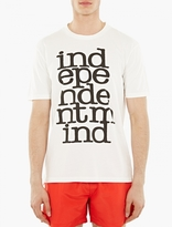 Paul Smith White Printed Quote T-Shirt