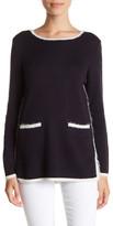 Nic+Zoe Modern Pocket Sweater (Petite)