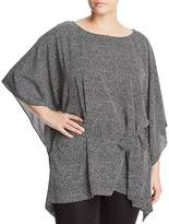 MICHAEL Michael Kors Tie-Waist Poncho-Style Top