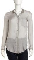 Helmut Lang Semisheer Button-Down Shirt