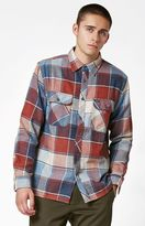 Brixton Archie Plaid Flannel Long Sleeve Button Up Shirt