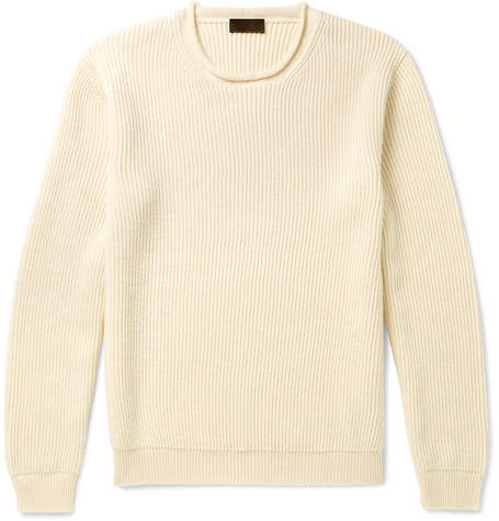 Altea Ribbed Virgin Wool Sweater - Men - Cream