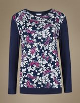 Marks and Spencer Long Sleeve Butterfly Pyjama Top