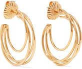 Natasha Schweitzer - Lindsey 14-karat Gold-plated Hoop Earrings