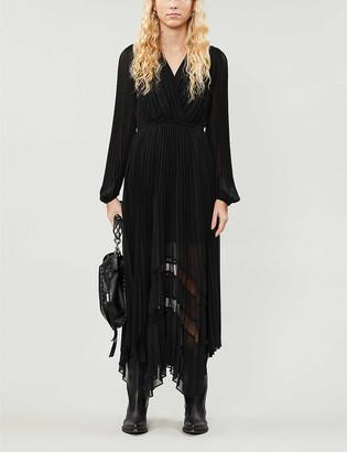The Kooples Pleated crepe midi dress