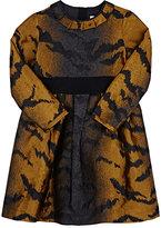Lanvin TIGER-STRIPED JACQUARD A-LINE DRESS SIZE 6