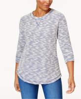 Karen Scott Marled Sweatshirt, Only at Macy's