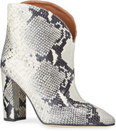 Paris Texas 90mm Python-Print Leather Booties