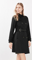 Esprit Satined trench coat w accent buttons