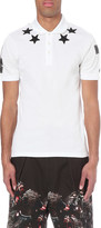 Givenchy Star embroidered cotton-piqué polo shirt