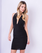 Missy Empire Rovira Black Multiway Slinky Midi Dress